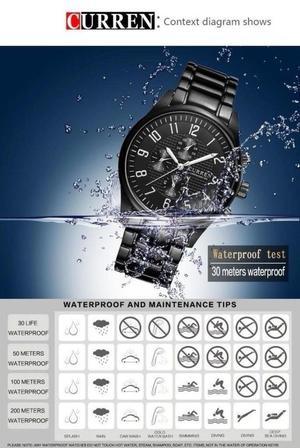 Black Stainless Steel Men's Luxury Watch