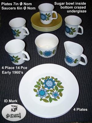 COLLECTABLES. Vintage 's Tea/Coffee Table set