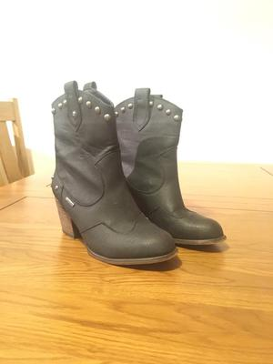 FIRETRAP leather studded boots.