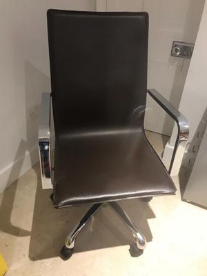Home desk chairs. Brown and chrome. Used but in good condition. £20. 2 for sale