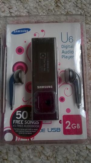 NEW SAMSUNG YP U6 MP3 PLAYER