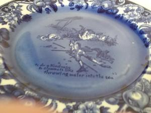 Royal dalton blue and white plates