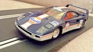 "Scalextric Ferrari F40 ""Gulf"" C589 Working Rear Lights and"