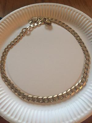 Solid gold curb chain 63.5grams