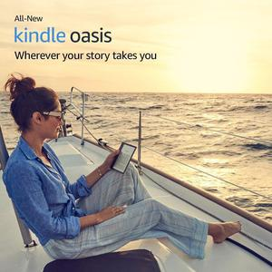"All-New Kindle Oasis E-reader, Waterproof, 7"" High-Resolutio"