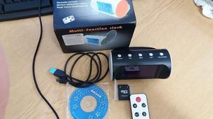 Camera Alarm Clock with Remote Control Spy Hidden Camera Clock Digital Alarm Clock