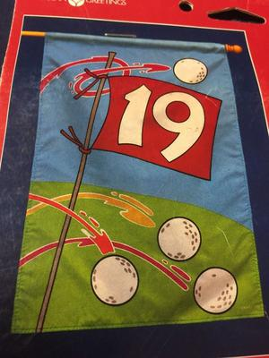 GOLF Am. Greetings Forget Me Not Decorative Flag 19th Hole