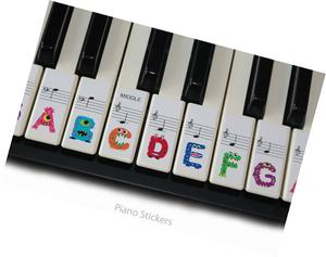 Keyboard or Piano Stickers 61 key set For Kids learn to play