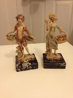 Lovely Pair of Italian Resin Figurines