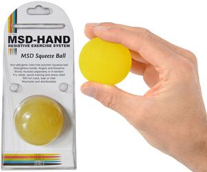 Msd BALL MANO Yellow EXTRA SOFT Liv 1 Rehabilitation SQUEEZE