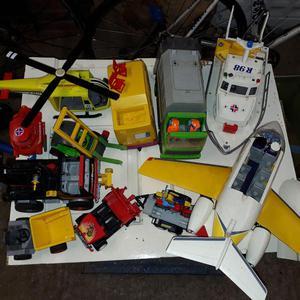 Playmobil box of various toys