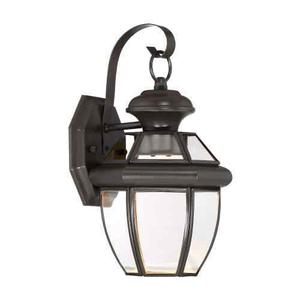 """Quoizel NYCLZ Clear 1 Light 13"""" Tall LED Outdoor Lantern"""