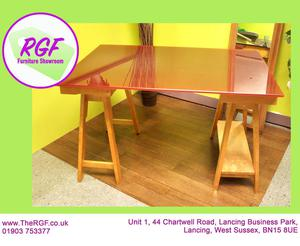 SALE NOW ON!! Red Glass Top Desk - Local Delivery £19