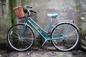 SCHWINN GATEAWAY. 16.5 inch, 42 cm. Ladies women's dutch hybrid road city bike, 6 speed, with basket