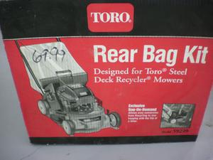 "TORO 2.5 Bushel Rear Bag Kit for 21"" Mulching Mowers New"