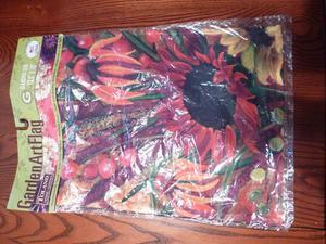 "Toland Garden Art Flag 12.5"" x  "" Vibrant Zinnias"""