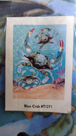 "Toland House Flag Blue Crab 24"" x 36"" Weatherproof NIP"