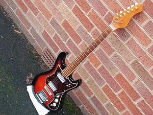 VINTAGE 60s AUDITION ELECTRIC GUITAR ALL ORIG SOUNDS GOOD GC