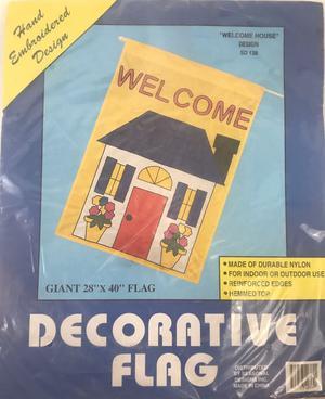 Welcome Home Decorative Flag 28 x 40 Outdoor Garden Decor