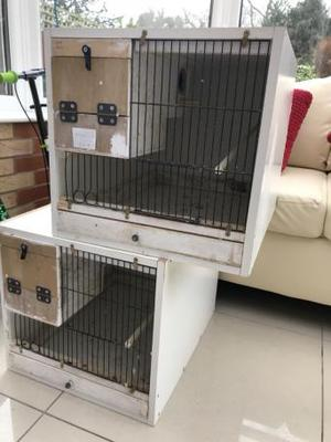 2 x budgie/parrotlet breeding cage with integral Nest boxes