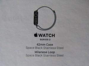 APPLE WATCH STAINLESS STEEL SERIES 2 WITH MILANESE STRAP - BOXED BRAND NEW