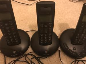 BT Cordless Phones x 3 with answer machine