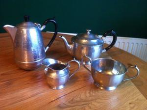 Cornish Pewter 4 piece Tea Service