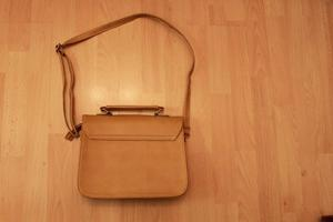 """Fashion Bag Brown - size 14.5""""x12"""" excluding handles"""