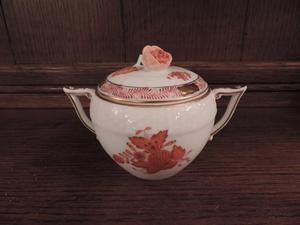 Herend China 'Chinese Bouquet' – Rust - Sugar Bowl