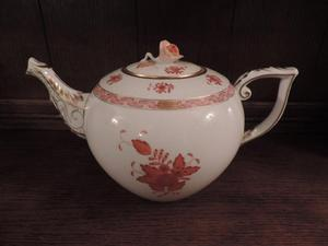 Herend China 'Chinese Bouquet' – Rust - Teapot