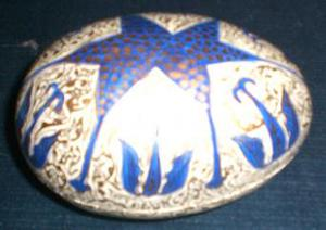 Papier Mache Egg Trinket Box Five inches long.