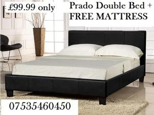 Prado Double Bed plus free sprung mattress only £,