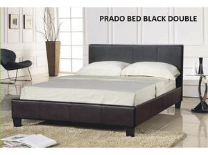 Prado Double Black bed plus mattress only £ also Tv