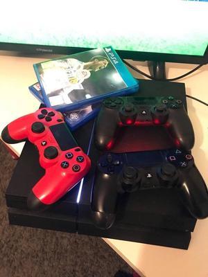 32' LED TV + Playstation gb) + Fiffa 18 + All accessories