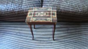 "BEAUTIFUL INLAID WOOD 17"" TALL MAPSA SWISS MUSICAL JEWELRY BOX TABLE DR. ZHIVAGO"