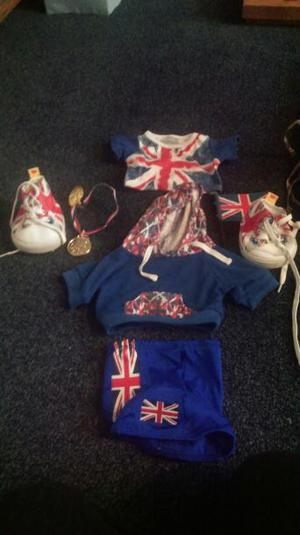 Build a Bear Union Jack Sport/ Swimming Outfit