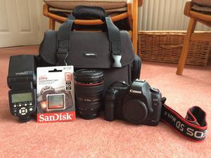 Canon 5D Mark II + Canon Lens + Flash + Bag