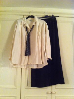 Classic Laura Ashley Pierrot blouse and trouser set