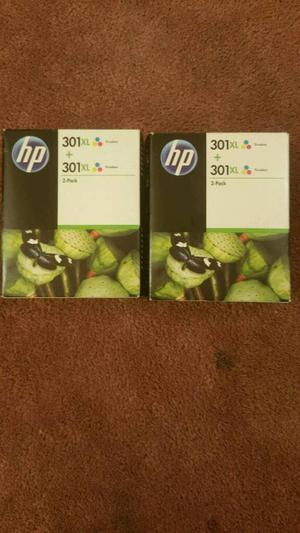 HP twin pack 301 ink cartridge (tri-colour)
