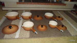 Le Creuset Full set of Saucepans x 5 Excellent condition