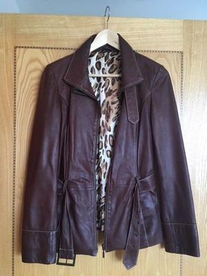 Leather jacket, women size8