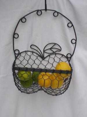 Wire Hanging Basket - Apple Design