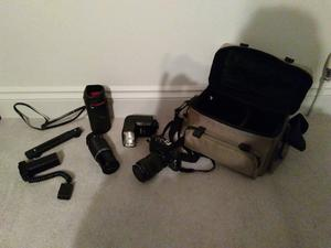 35mm Pentax SLR with lenses and accessories