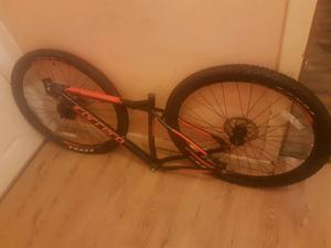 Carrera 20 inch bike frame / 29 inch wheels / tyres