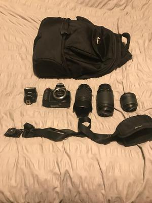 Nikon D with 3 x lens, 1 x flash and accesories