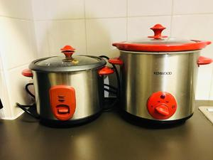Rice cooker and slow cooker combo
