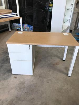 Small Office Desk with built in Pedestal x 4