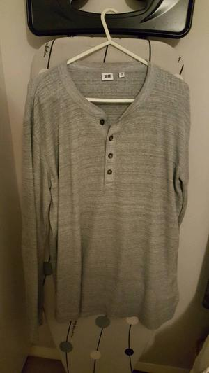 Uniqlo Light Grey Jumper - medium