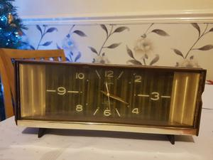 Vintage Rhythm 2 Jewels Alarm Clock Working Made in Japan.