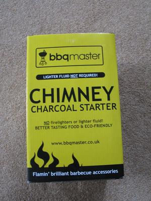 Brand new Chimney Charcoal Starter by BBQMaster. Boxed and